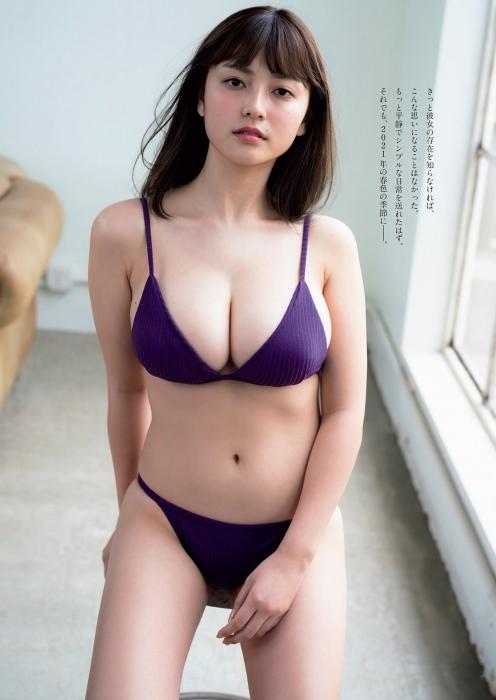 櫻井音乃の初水着グラビアエロ画像005