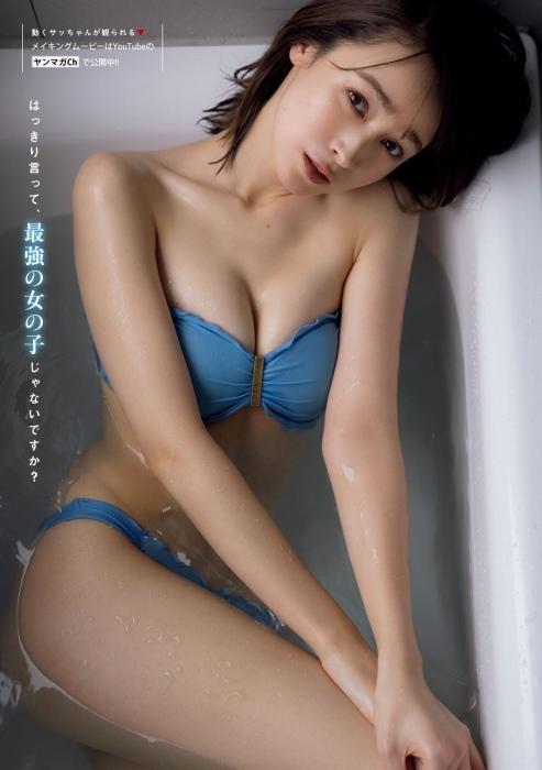 藤井サチの初水着グラビアエロ画像008