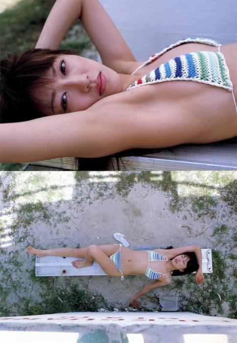 里田まいの写真集の水着グラビアエロ画像161