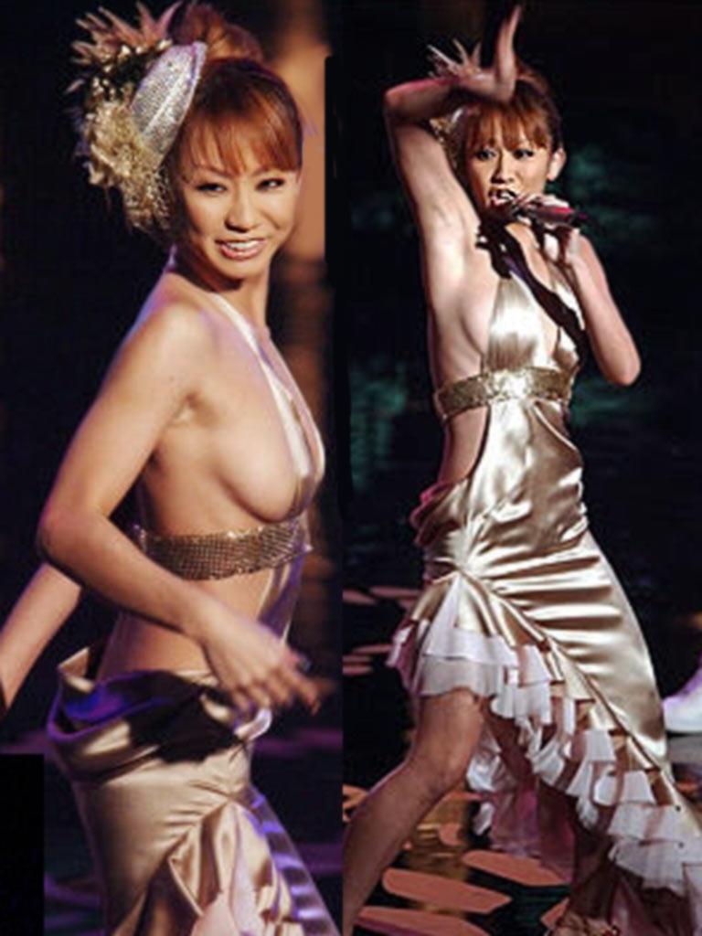 倖田來未36の水着おっぱいや乳首パンチラ過激画像100枚