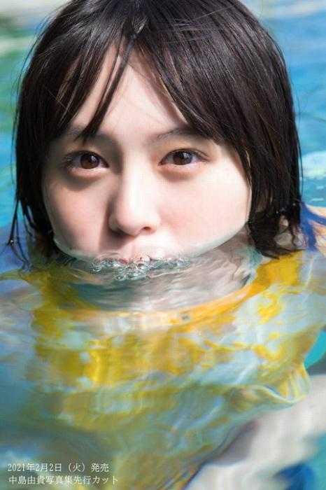 中島由貴の写真集の水着グラビアエロ画像006