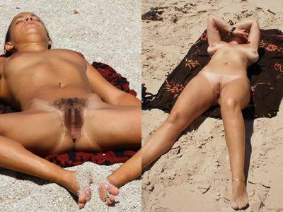 ヌーディストビーチでオマンコ見えてる外国人画像34枚 表紙