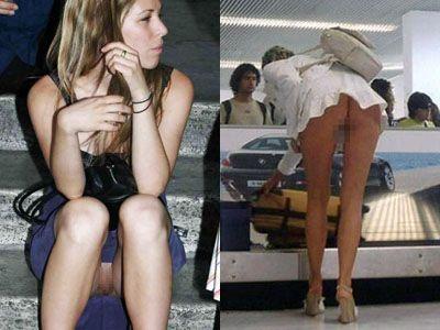 ノーパン盗撮された海外美女のエロ画像24枚 表紙