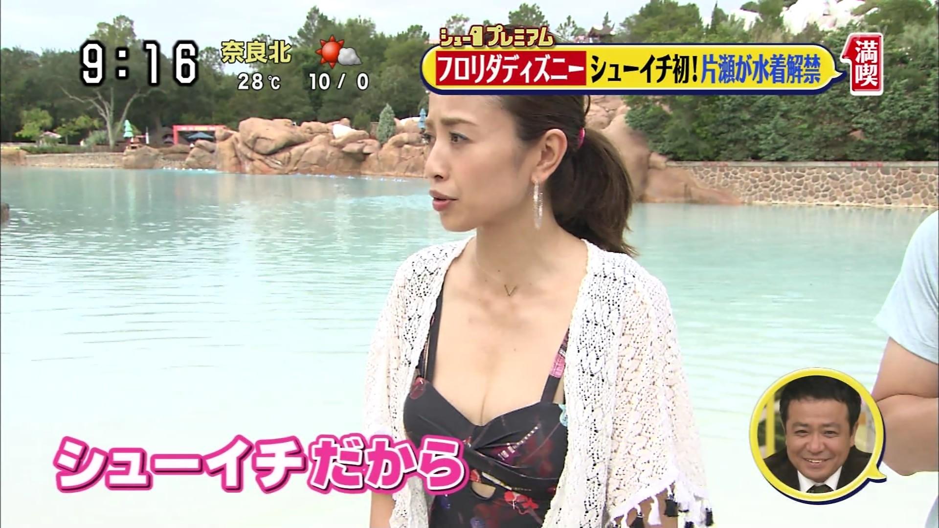 片瀬那奈の水着姿エロ画像006