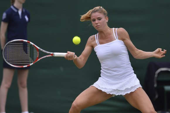 Camila Giorgi on Day 5 of the 2013 Wimbledon Championships.