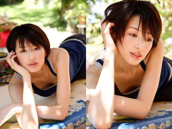 吉瀬美智子のセミヌード・下着姿グラビアエロ画像006