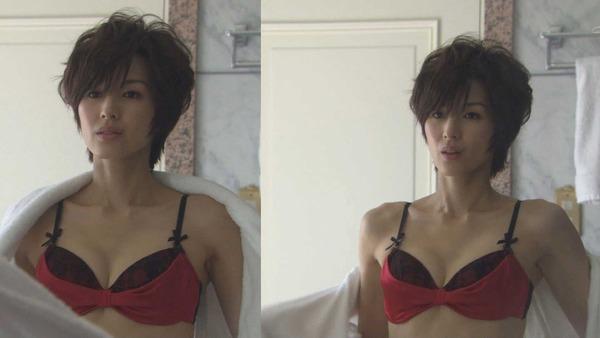 吉瀬美智子のセミヌード・下着姿グラビアエロ画像007
