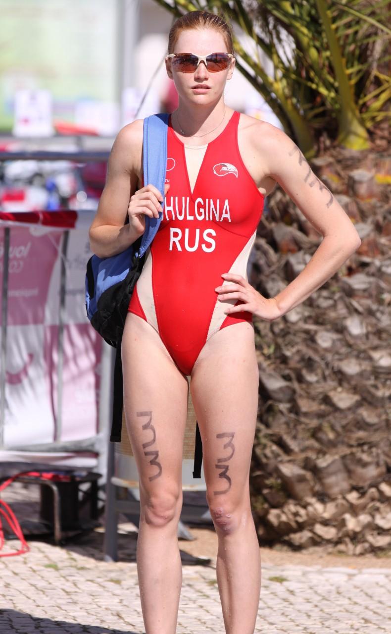 外国人の胸ポチ、ハミ尻が抜ける競泳水着姿のエロ画像33枚・7枚目の画像