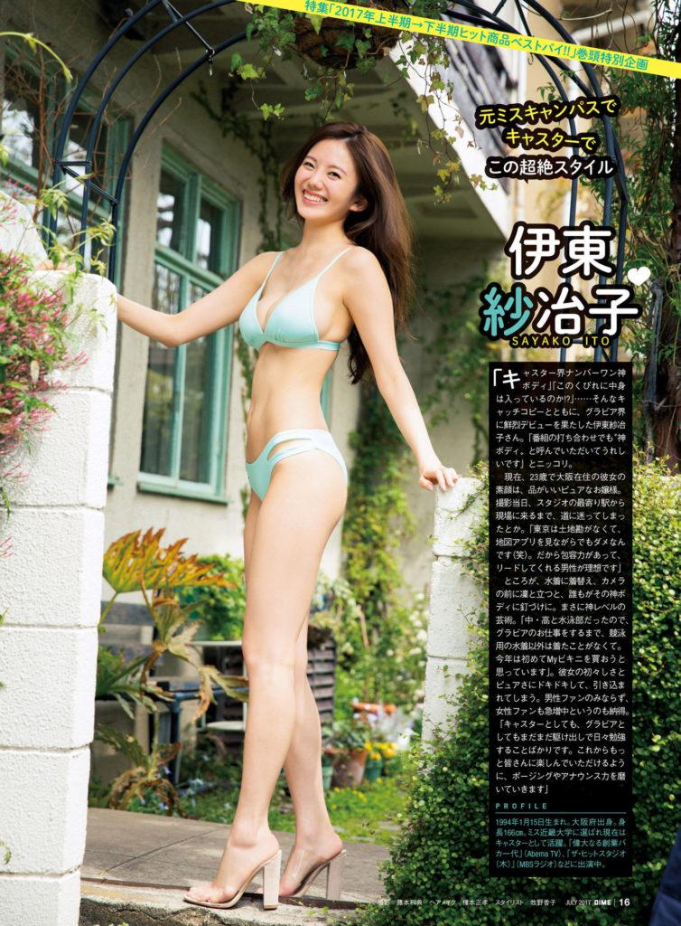 伊東紗冶子(23)Gカップキャスターの水着グラビア画像128枚・38枚目の画像