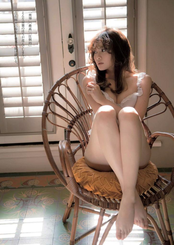 白石麻衣のグラビアエロ画像9