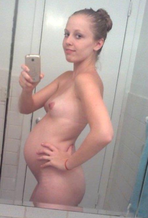 ボテ腹妊婦!海外で流行るマタニティー自画撮りエロ画像26枚・13枚目の画像