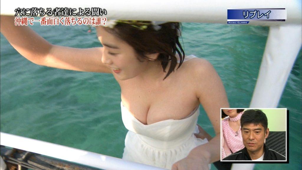 永久保存版!筧美和子の巨乳おっぱいポロリ放送事故エロ画像100枚・28枚目の画像