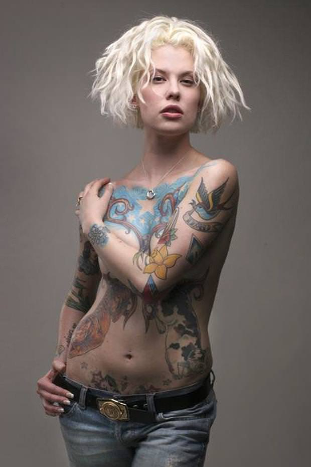 タトゥー大量外国人のヌードエロ画像35枚・5枚目の画像