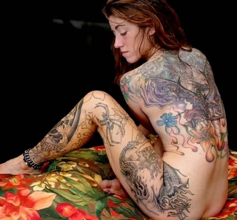 タトゥー大量外国人のヌードエロ画像35枚・9枚目の画像