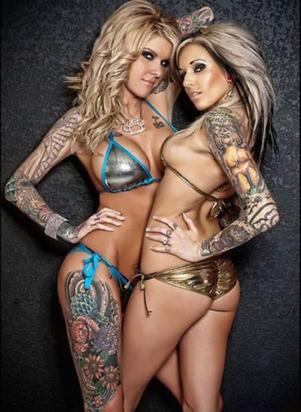 タトゥー大量外国人のヌードエロ画像35枚・28枚目の画像