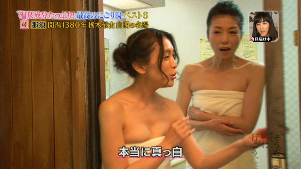 ハプニング不可避のTV入浴シーンのエロ画像35枚・5枚目の画像