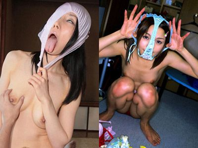 パンツ被りしてる基地外女子のエロ画像25枚