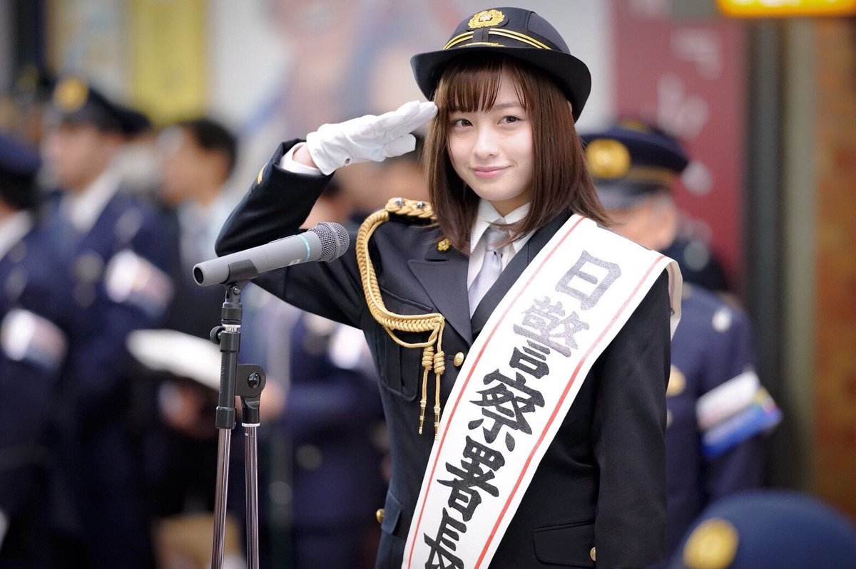 橋本環奈の1日警察署長姿のエロ画像001