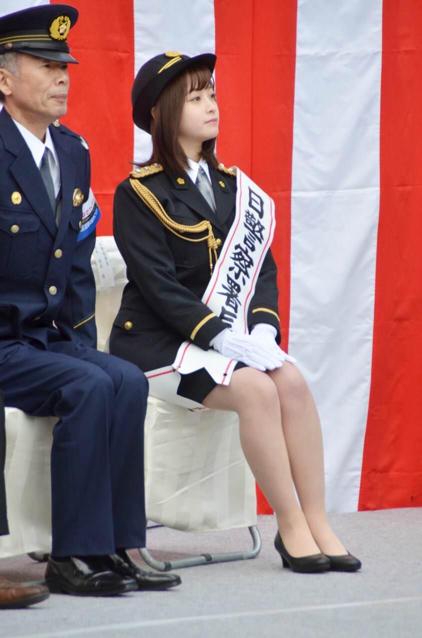 橋本環奈の1日警察署長姿のエロ画像007