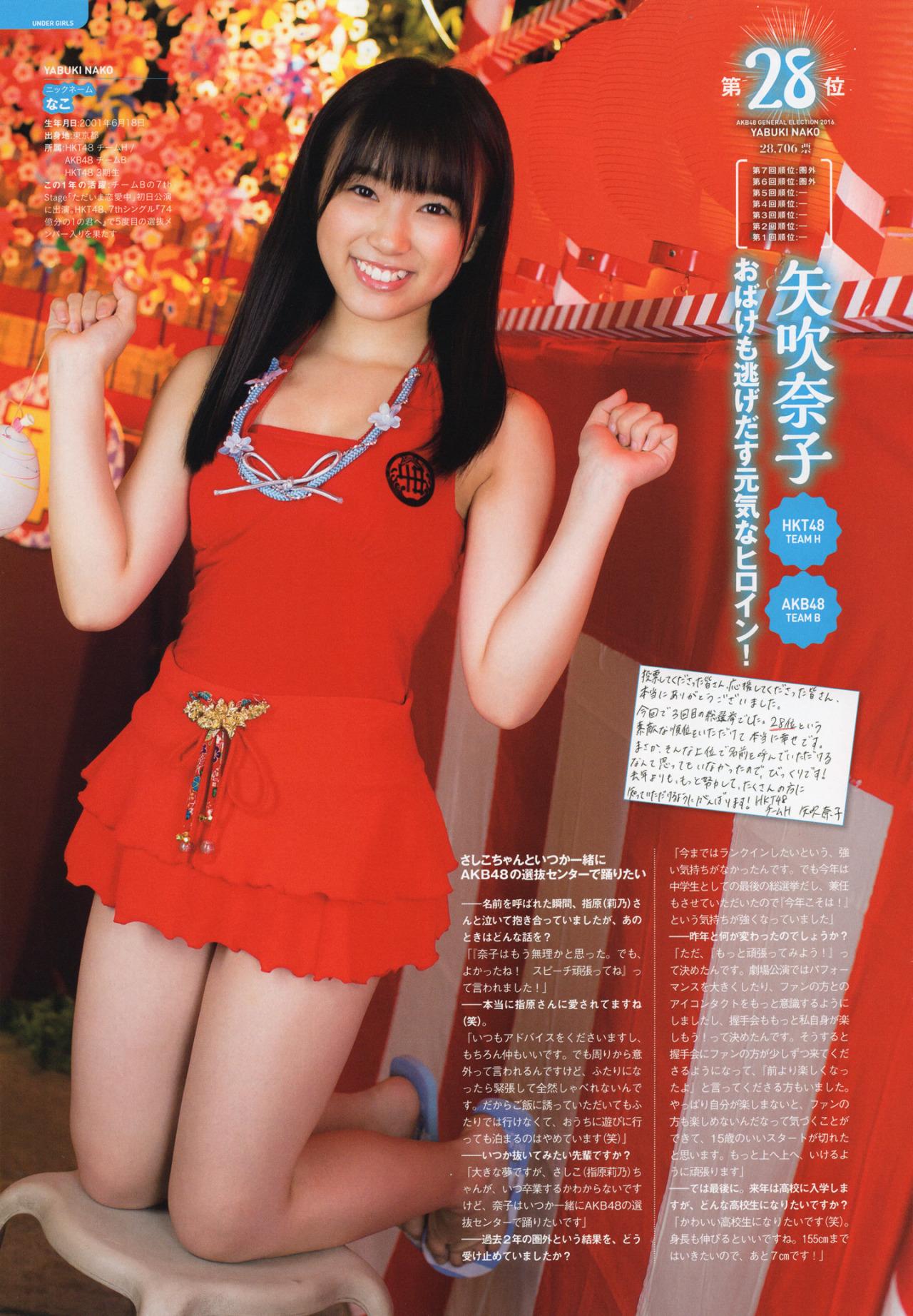 HKT48矢吹奈子(16)の胸チラ、水着グラビアエロ画像34枚・10枚目の画像