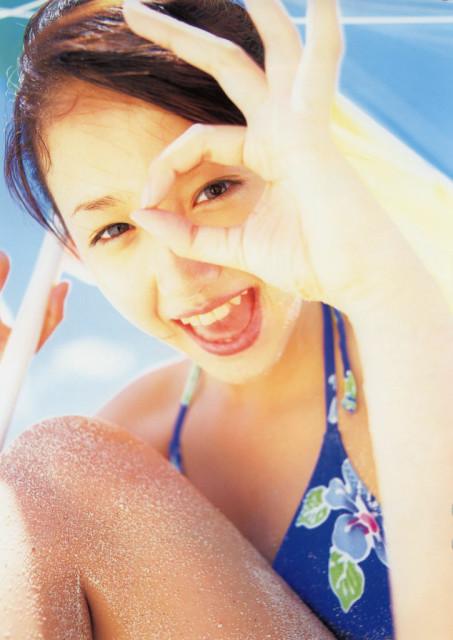 沢尻エリカの若かりし頃の水着グラビア画像73