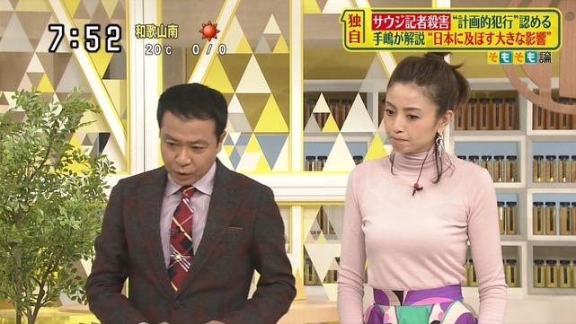 片瀬那奈の着衣巨乳エロ画像010