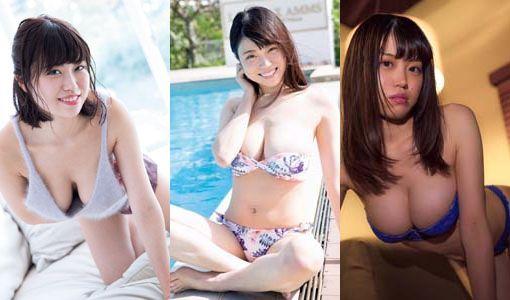 麻亜子(24)の水着グラビアのHカップおっぱい画像40枚