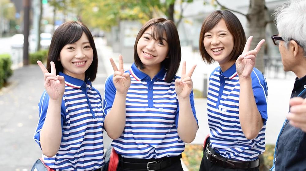 佐川女子の写真集の制服・私服メイキングエロ画像