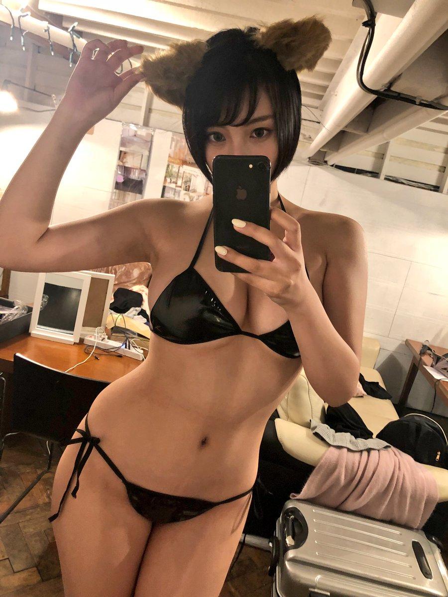 安位薫のツイッター自画撮りエロ画像006