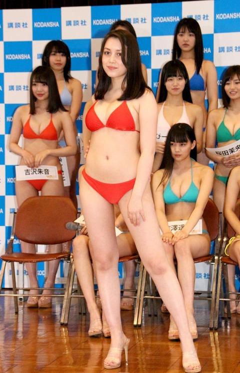 ミッシェル愛美の「ミスマガジン2019」水着姿エロ画像002