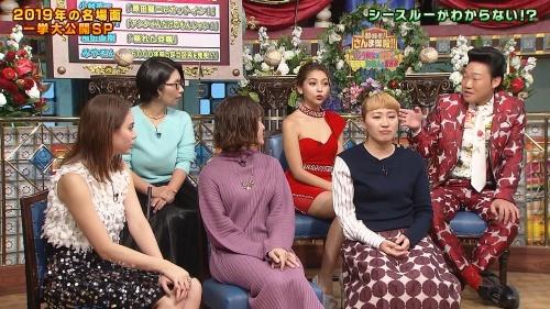 ゆきぽよの『踊る!さんま御殿!!』赤ドレス姿のパンチラ、胸チラエロ画像014