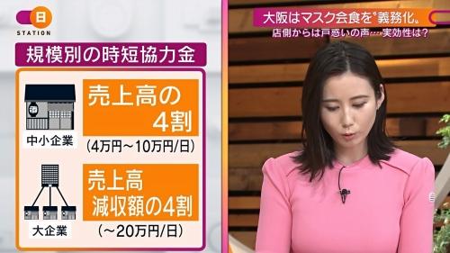 森川夕貴アナの着衣ニットおっぱいエロ画像002