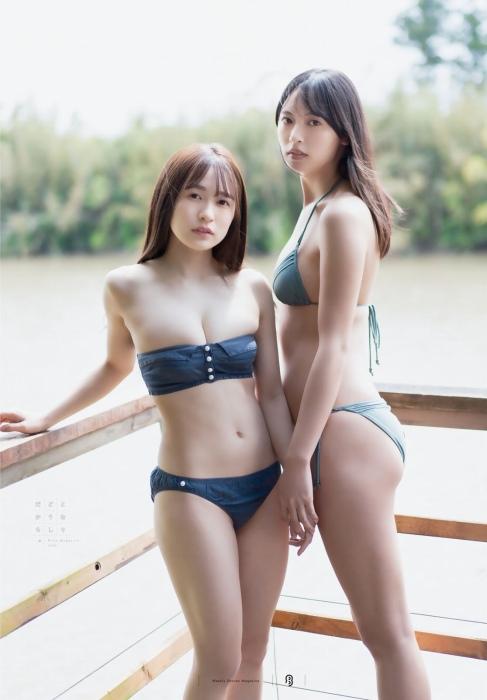 早川渚紗の大槻りことの水着グラビアエロ画像009