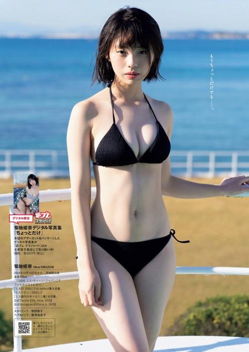菊地姫奈の水着グラビアエロ画像008