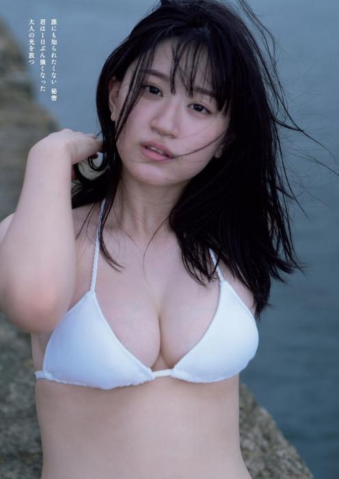 上西怜の巨乳水着グラビアエロ画像006