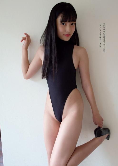 林田百加のハイレグ水着グラビアエロ画像002