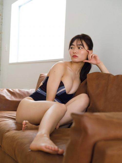 桜田茉央のFカップの水着グラビアエロ画像005