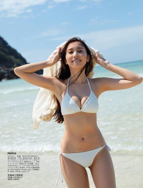 佐野ひなこの写真集『Color』のアザーカットの水着グラビアエロ画像007