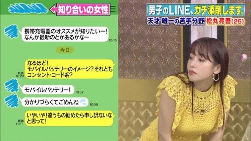 鷲見玲奈アナの黄色衣装の着衣おっぱいエロ画像006