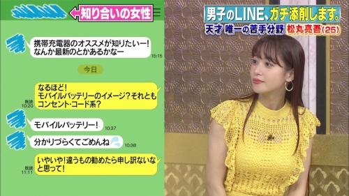 鷲見玲奈アナの黄色衣装の着衣おっぱいエロ画像009