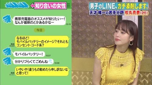 鷲見玲奈アナの黄色衣装の着衣おっぱいエロ画像010