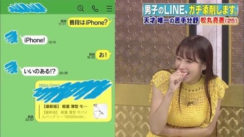 鷲見玲奈アナの黄色衣装の着衣おっぱいエロ画像011