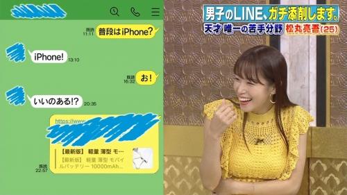 鷲見玲奈アナの黄色衣装の着衣おっぱいエロ画像013