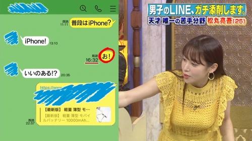鷲見玲奈アナの黄色衣装の着衣おっぱいエロ画像015