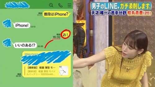 鷲見玲奈アナの黄色衣装の着衣おっぱいエロ画像016