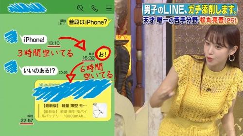 鷲見玲奈アナの黄色衣装の着衣おっぱいエロ画像019