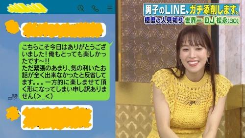鷲見玲奈アナの黄色衣装の着衣おっぱいエロ画像024