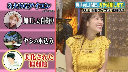 鷲見玲奈アナの黄色衣装の着衣おっぱいエロ画像031