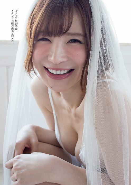 手島優のウェディングドレスグラビアエロ画像002