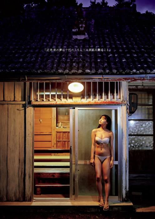 吉澤遥奈の週プレ表紙の水着グラビアエロ画像003